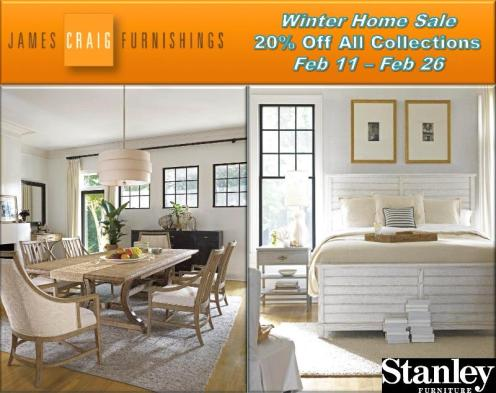 20% Off All Stanley Collections at James Craig Furnishings